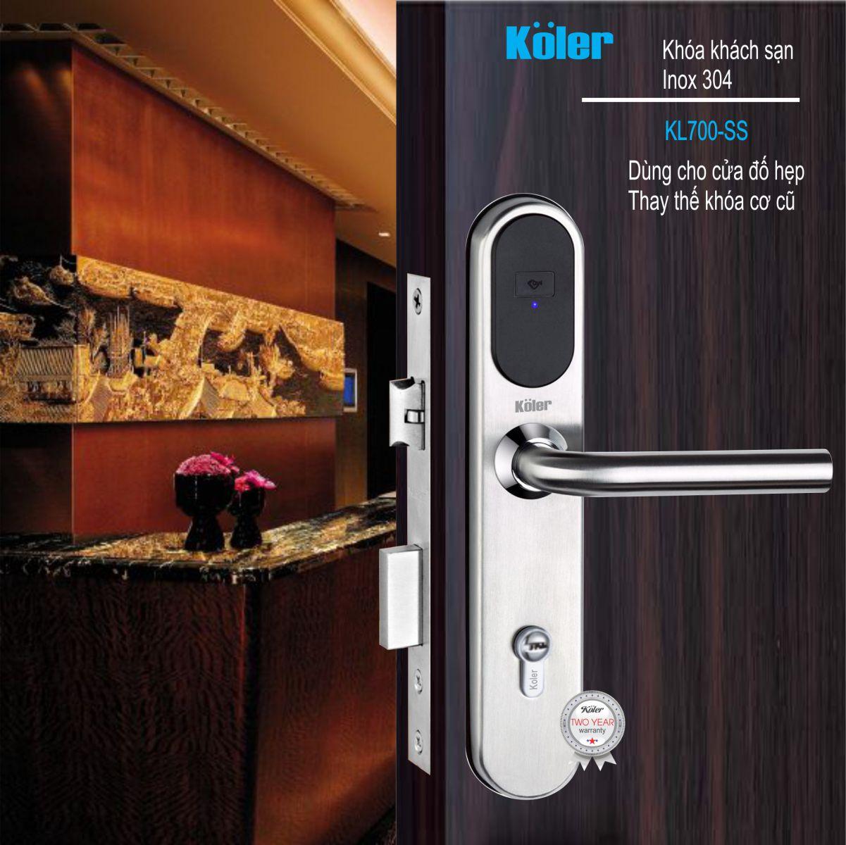 Khóa khách sạn Koler-germany KL700-SS