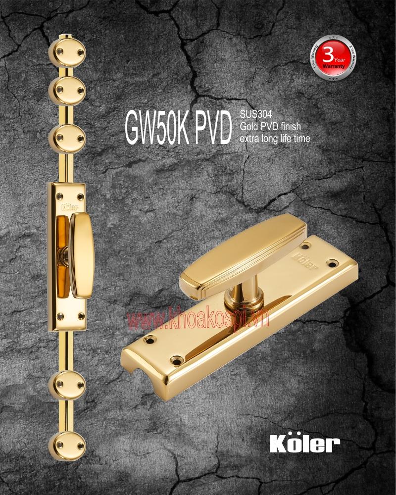 Cremone inox304 hiệu Koler GW50K MirrorPVD
