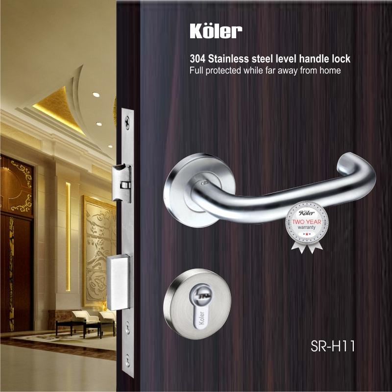 Khóa cửa tay gạt EURO style hiệu Koler SR-H11 SS
