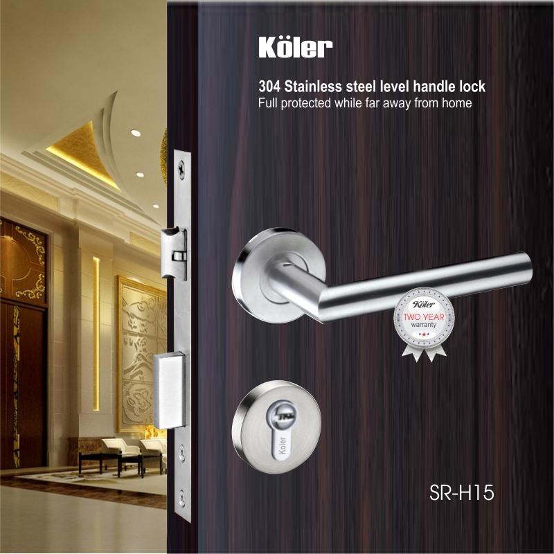 Khóa cửa tay gạt EURO style hiệu Koler SR-H15 SS